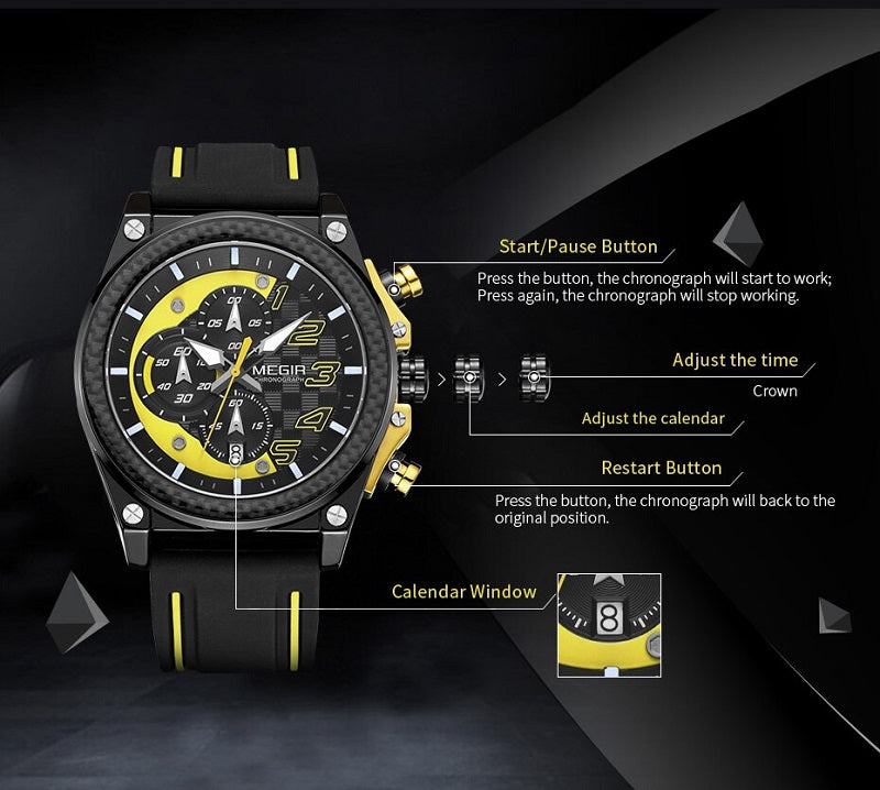 analog watch with stopwatch