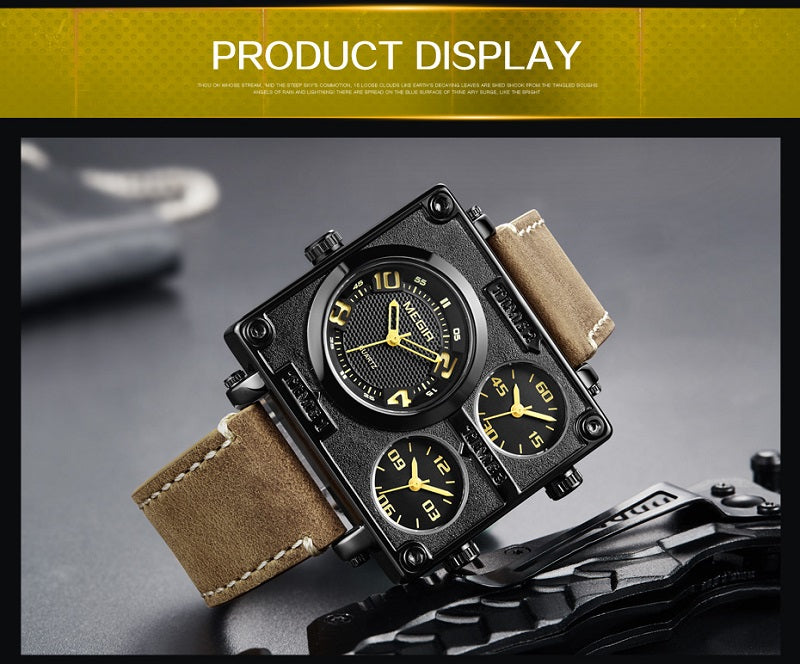 men's square black watches