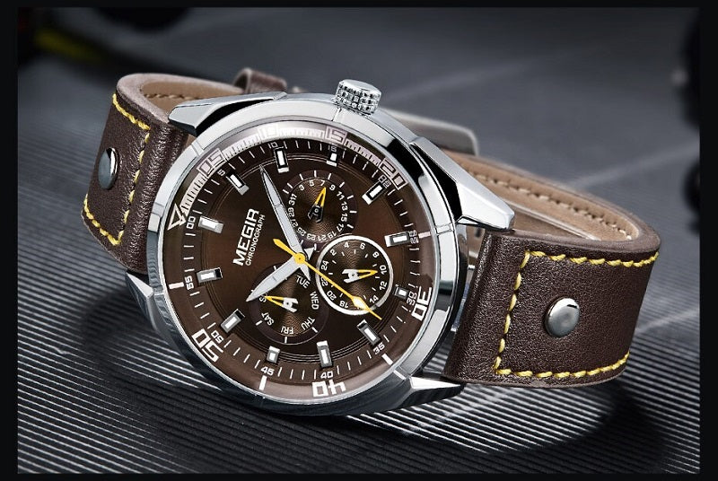 brown dial men's watch