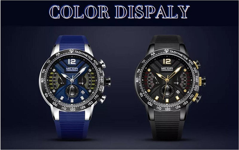 mens watches with silicone bands