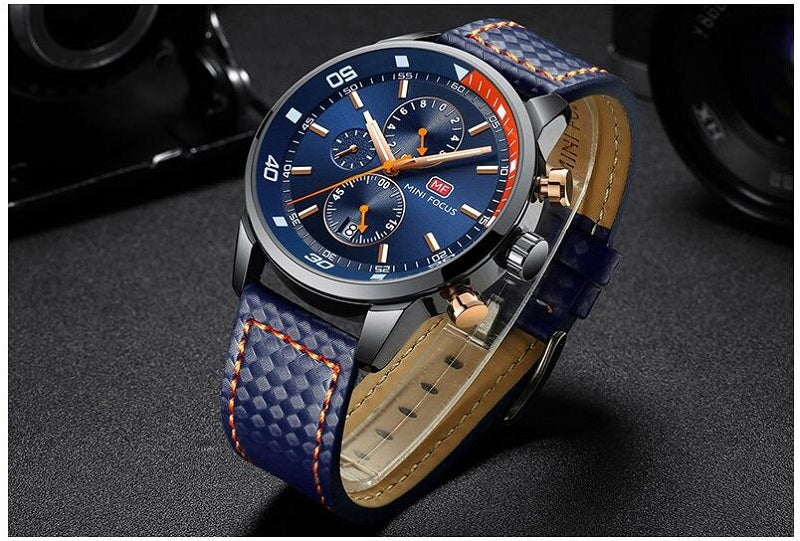 leather chronograph watches