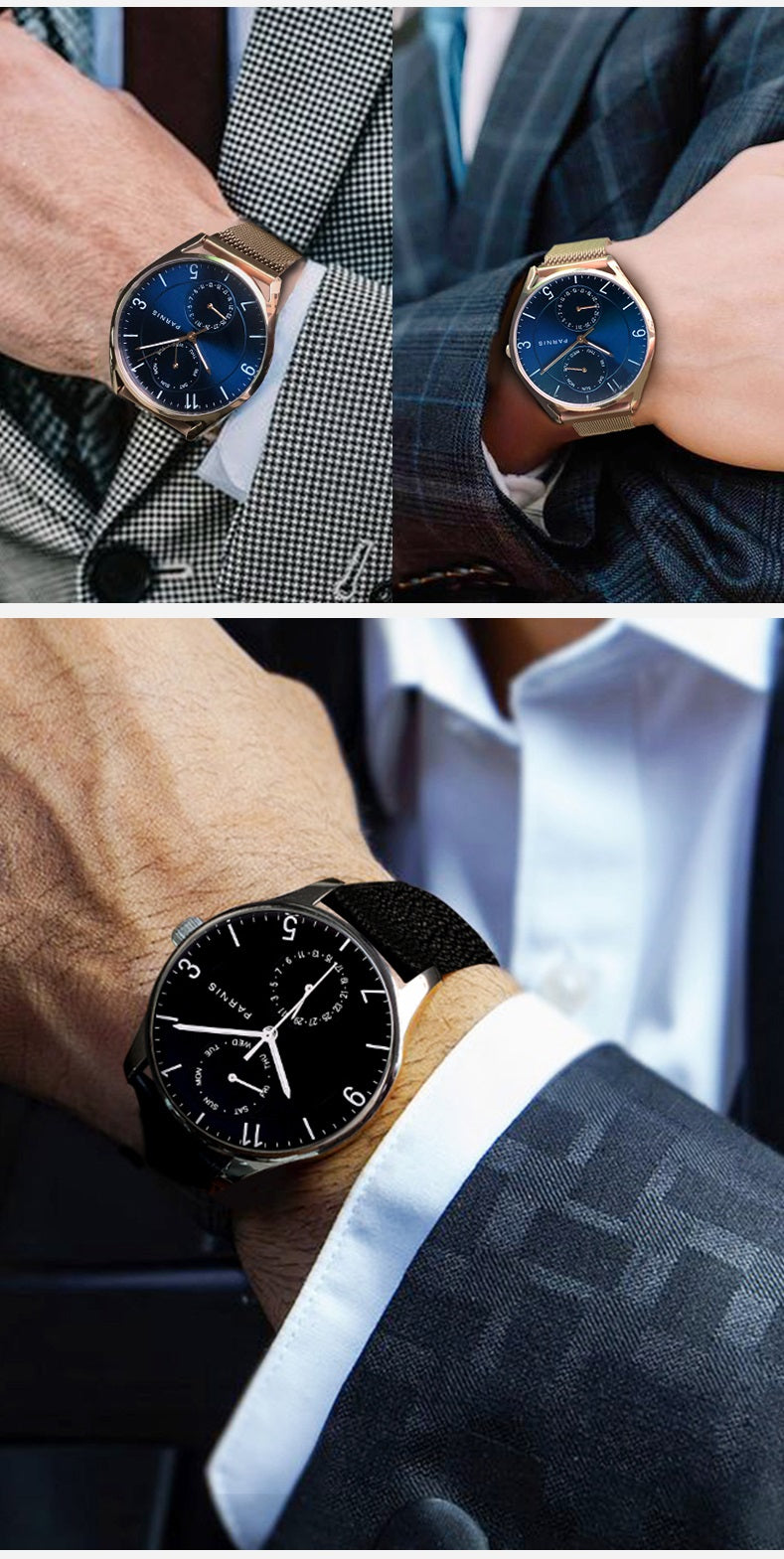 day date wrist watches