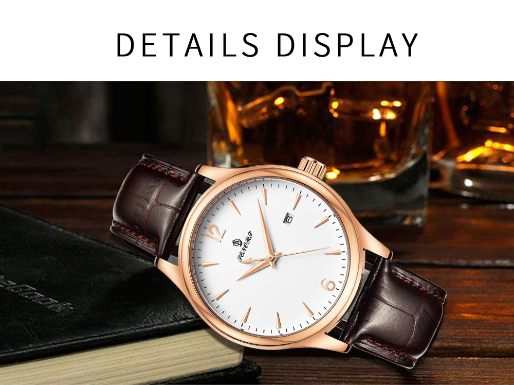 leather band watches mens cheap