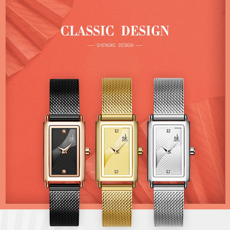 square shaped watches for ladies