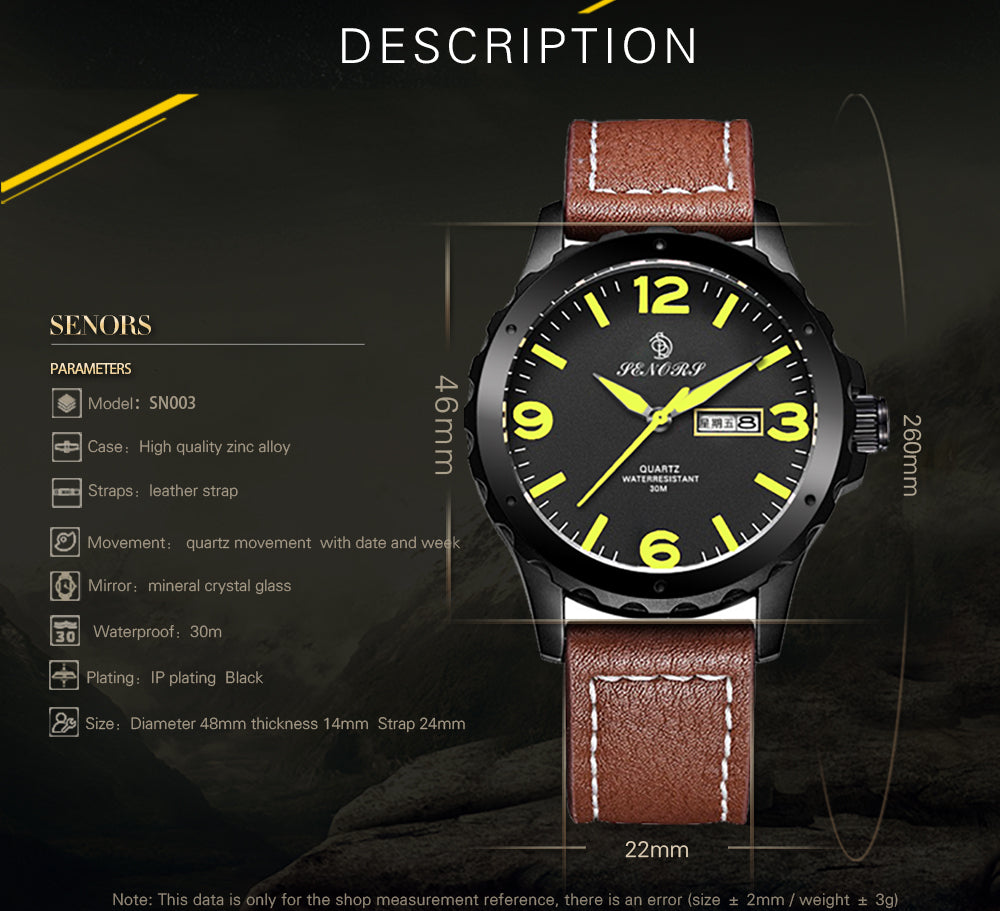 nice leather band watches