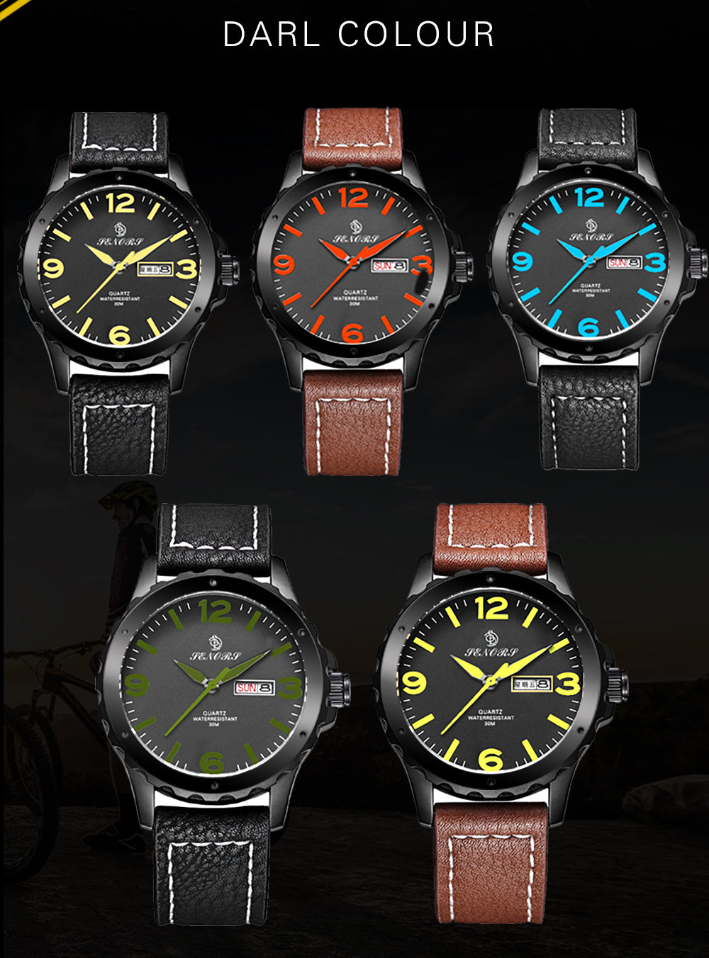 mens leather watches on sale