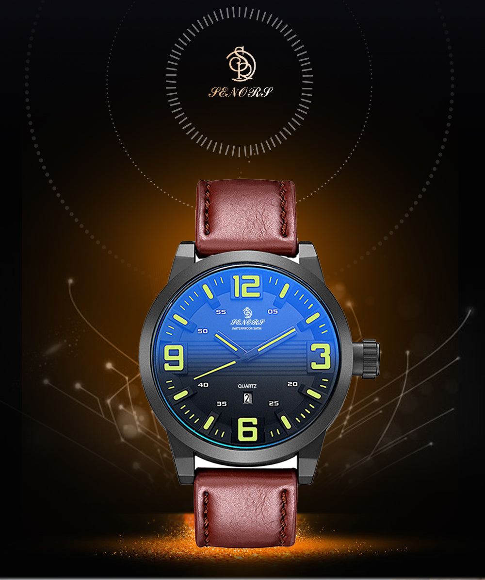 leather watch cheap