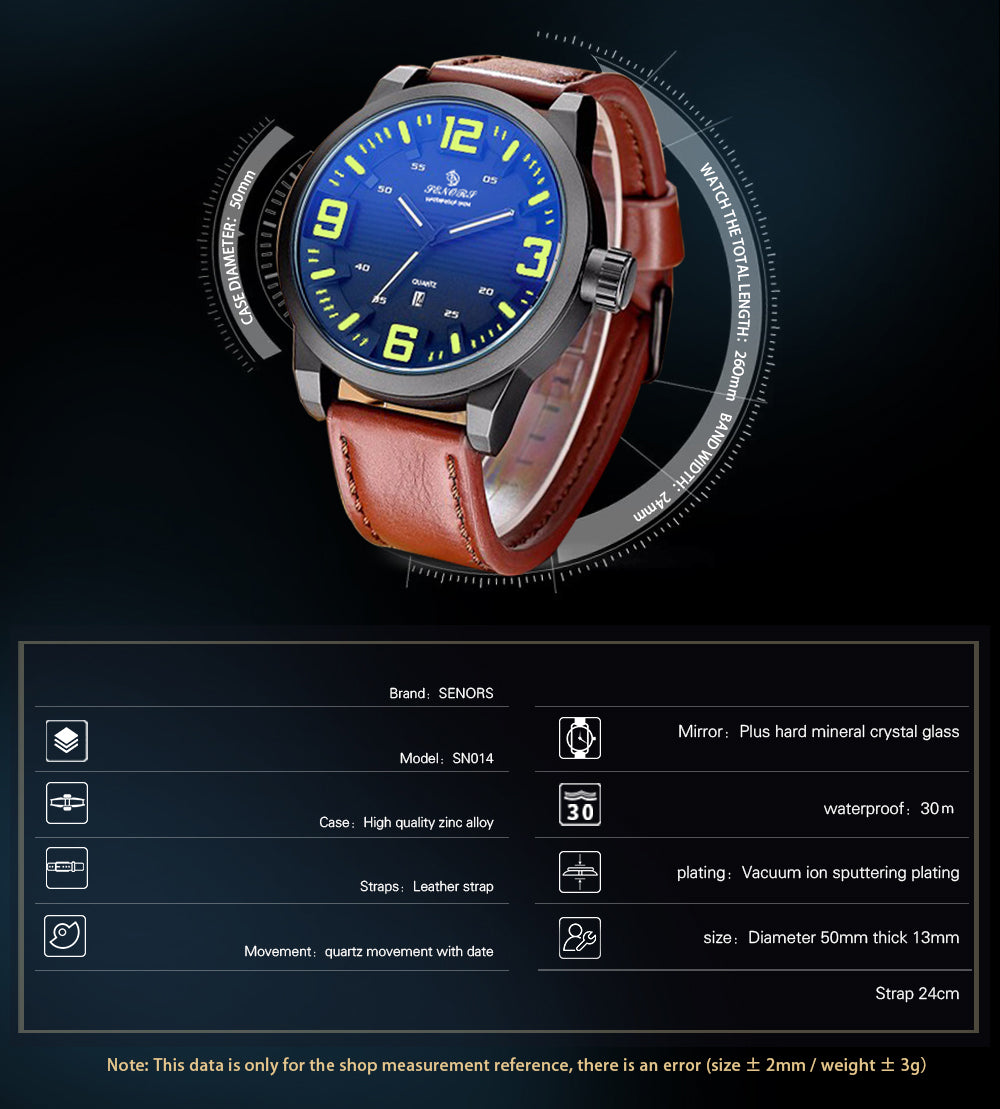 cool leather watches