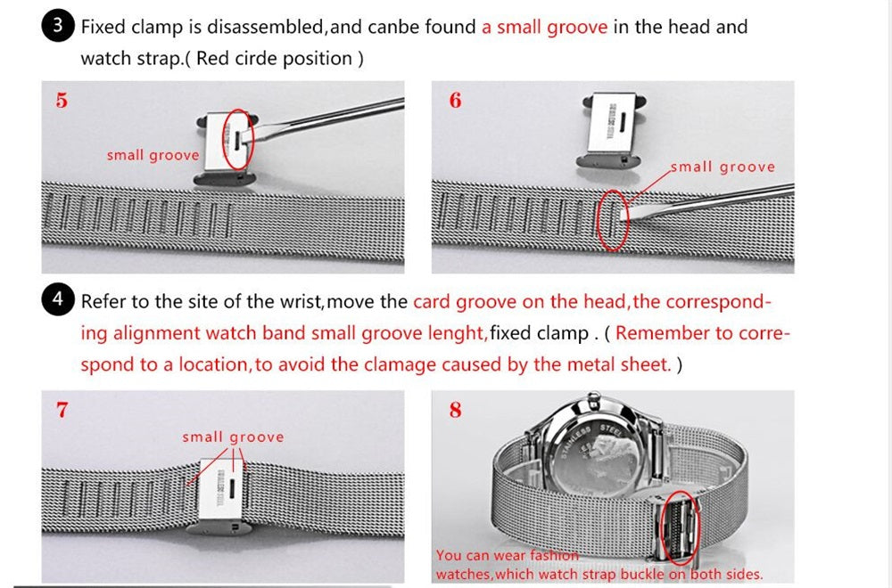 how to adjust watch length