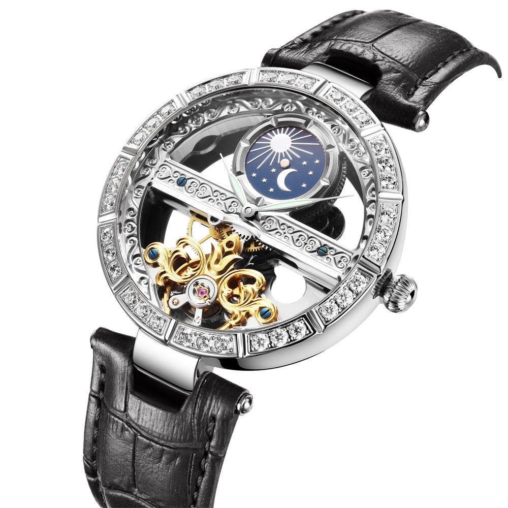 women's automatic skeleton watch
