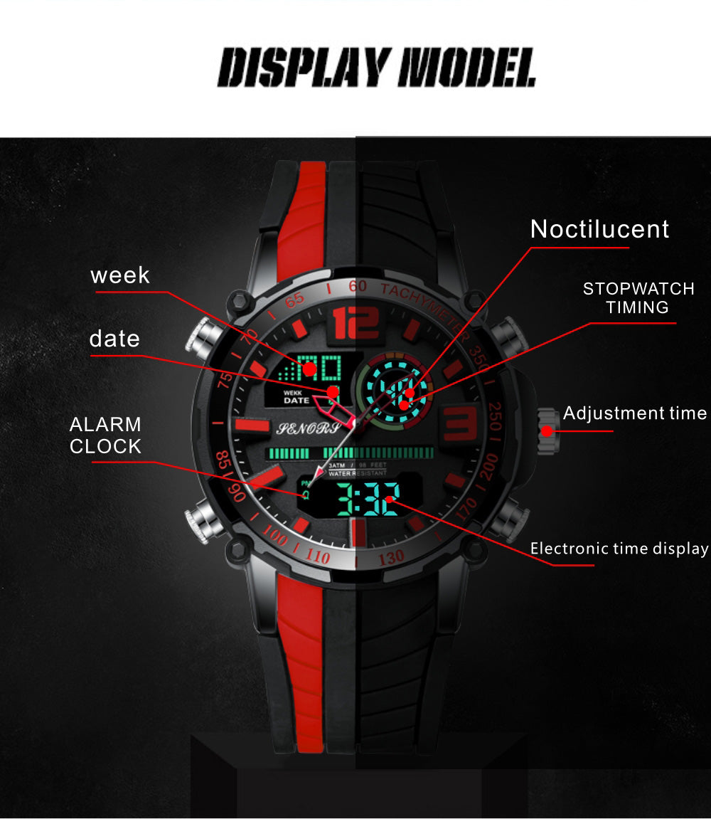 analog watch with digital display