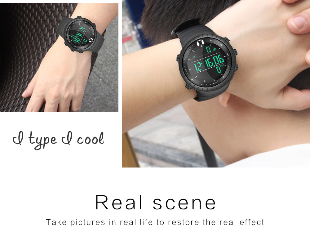 cheap black digital watch