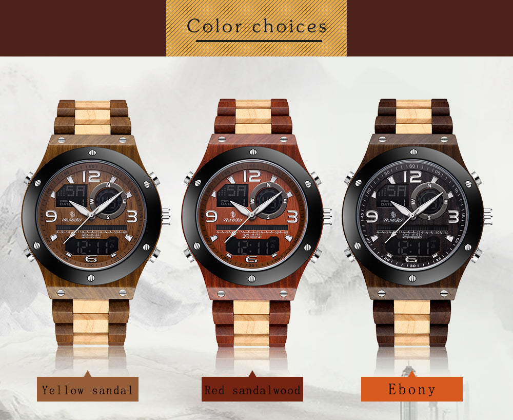 mens watches made of wood
