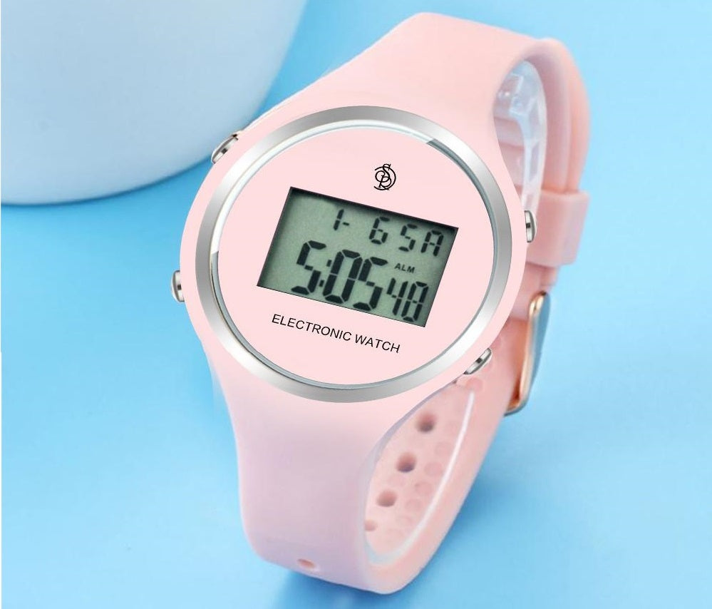 girls pink digital watch