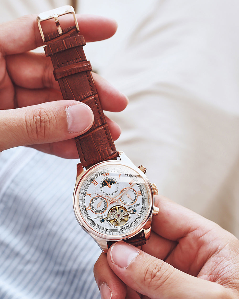 mens watches automatic movement