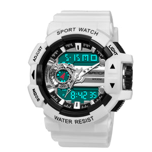 analog watch with digital date