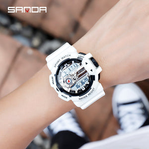 Sanda 599 dual analog and digital watches for mens