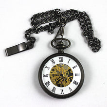 mens skeleton pocket watch