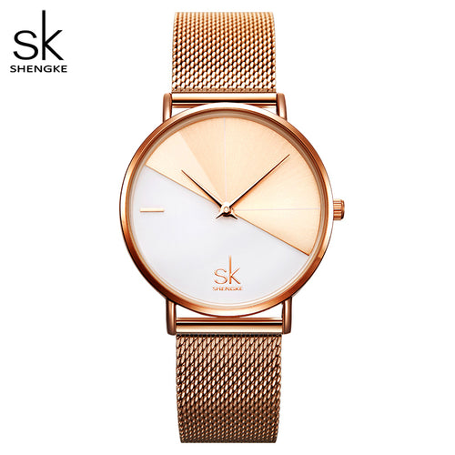 two tone mesh watch