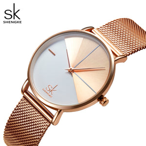two tone rose gold watch
