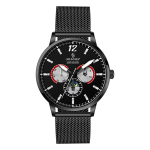 mens black mesh strap watch