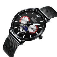 black mesh strap watch mens