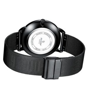 mens black mesh watch