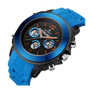 analog watch with digital date display