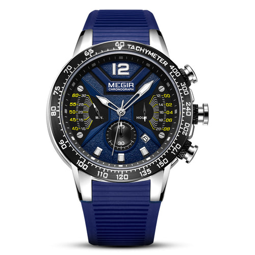 blue silicone watch
