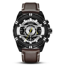 mens watch brown leather band