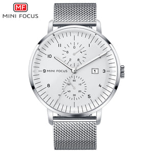 silver mesh band watch