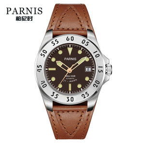 brown leather strap watches