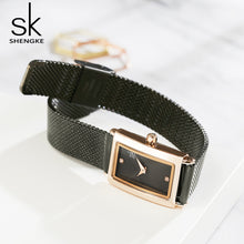 black square watch ladies