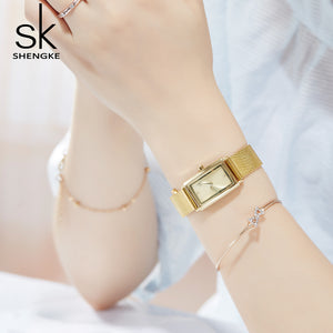square gold womens watch