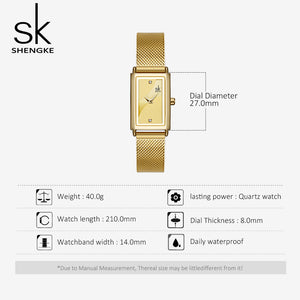 gold square womens watch
