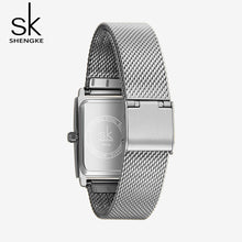 women's square watches silver