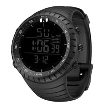 all black digital watch