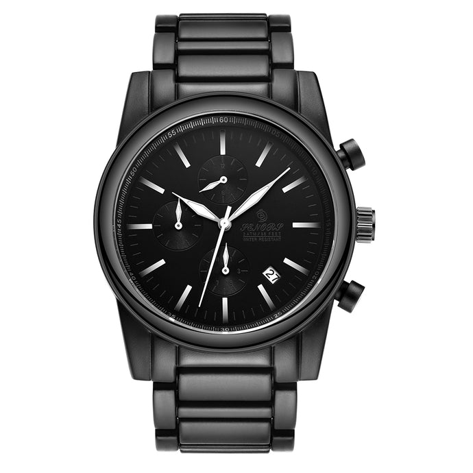 all black stainless steel watches