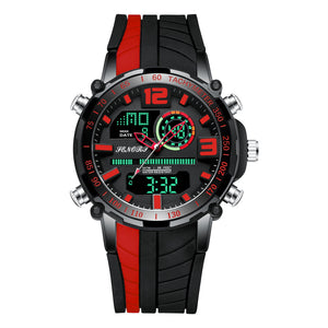 digital analog watch with second hand
