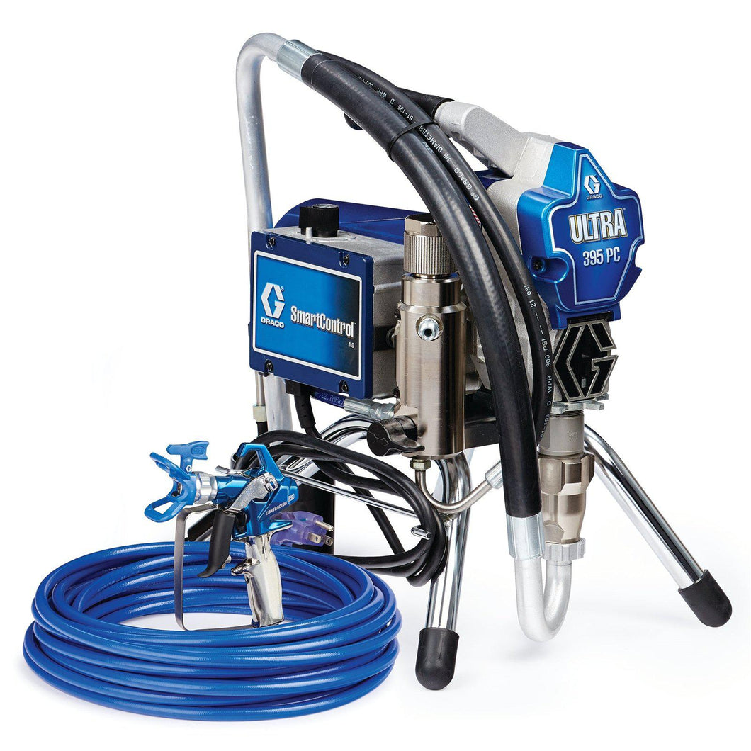Graco 395 Ultra Pro Contractor 3300 PSI @ 0.54 GPM Electric Airless Paint Sprayer - Stand