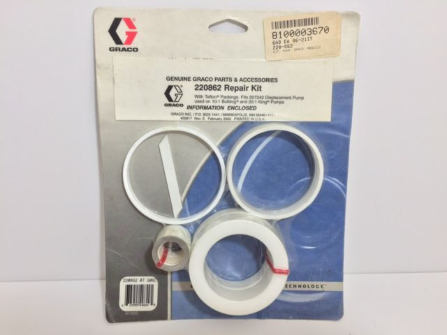 Graco 220-862 Repair Kit with Teflon Packing