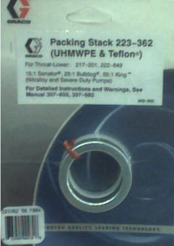 Graco 223-362 Packing Stack, throat (with Teflon & Polyethylene Packings)