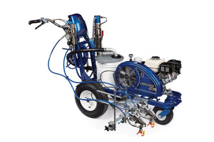 Graco LineLazer 130HS Standard Series 3300 PSI @ 1.3 GPM Gas Hydraulic Airless Line Striper, 2 Manual Guns - Cart