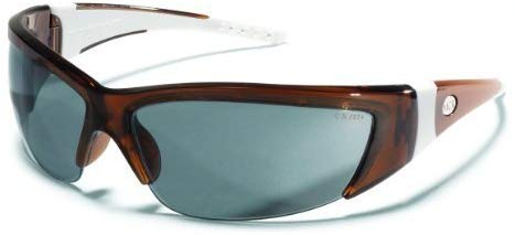 MCR  ForceFlex 2 Safety Glasses with Translucent Brown Frame and Gray Lens