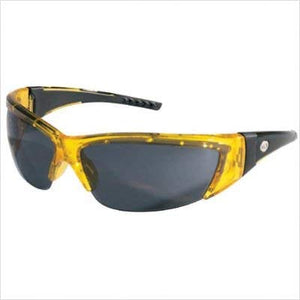 MCR Crews FF232 ForceFlex 2 Safety Glasses with Translucent Yellow Frame and Gray Lenses
