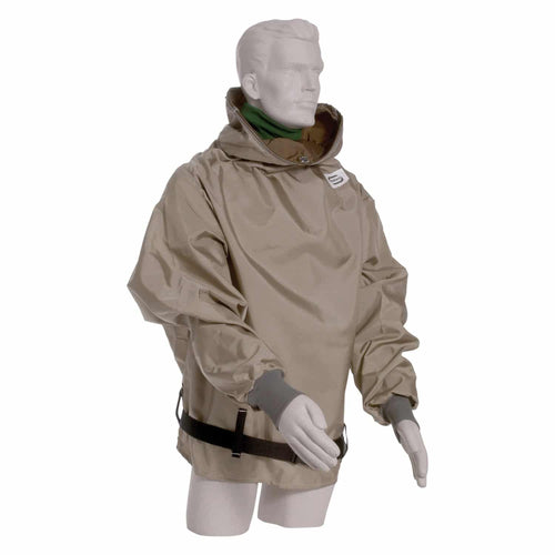 "Hibernia Parka -Tan Nylon Parka with sleeves - 38"" length (1587583713315)"