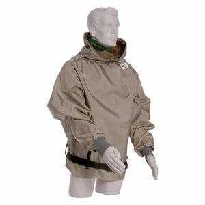 "Hibernia Parka -Tan Nylon Parka with sleeves - 38"" length"