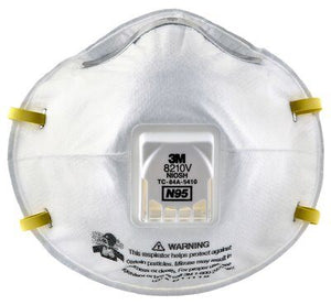 3M™ Particulate Respirator 8210V, N95 with 3M™ Cool Flow™ Valve - 10/BX