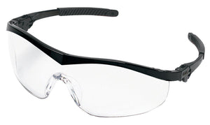 MCR  ST110 Storm Safety Glasses with Black Frame and Clear Lens