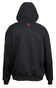 Flame Resistant (FR) Hooded Pullover Sweatshirt Max Comfort Material 100% Cotton Interlock Fleece Shell Black -1EA